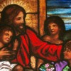 Jesus and Children Stained Glass